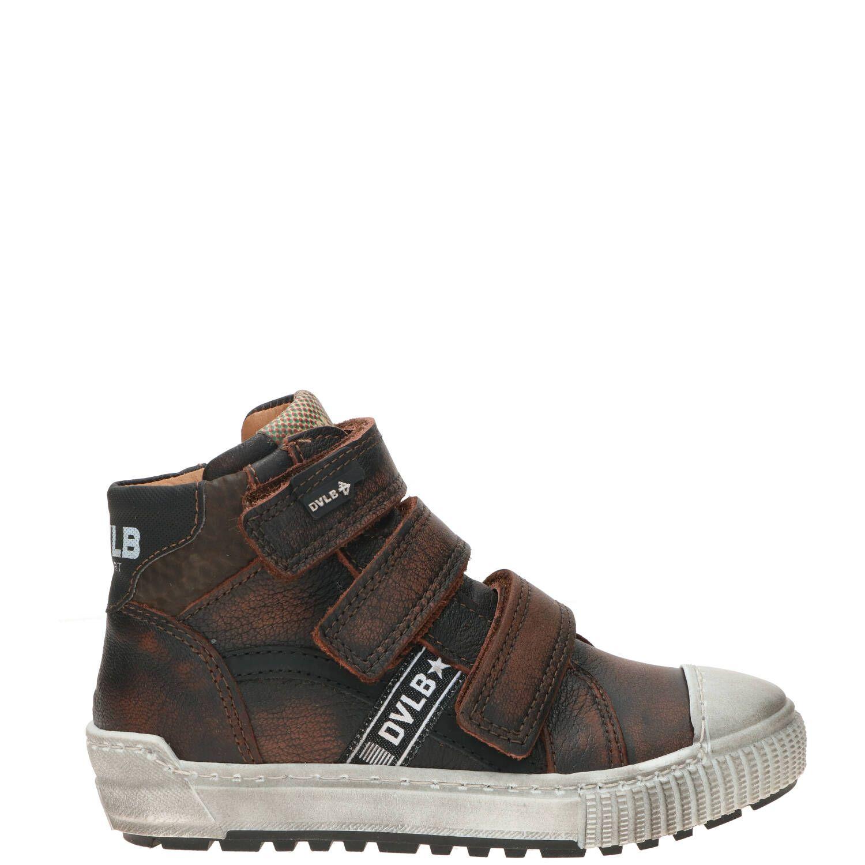 Develab klittenbandschoen, Lage schoenen, Jongen, Maat 27, bruin