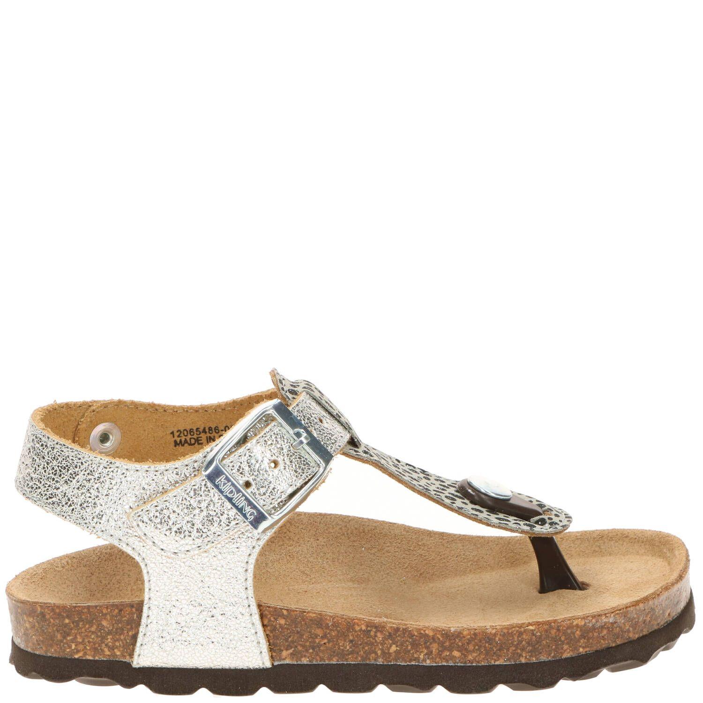 Kipling slipper, Slippers, Meisje, zilver