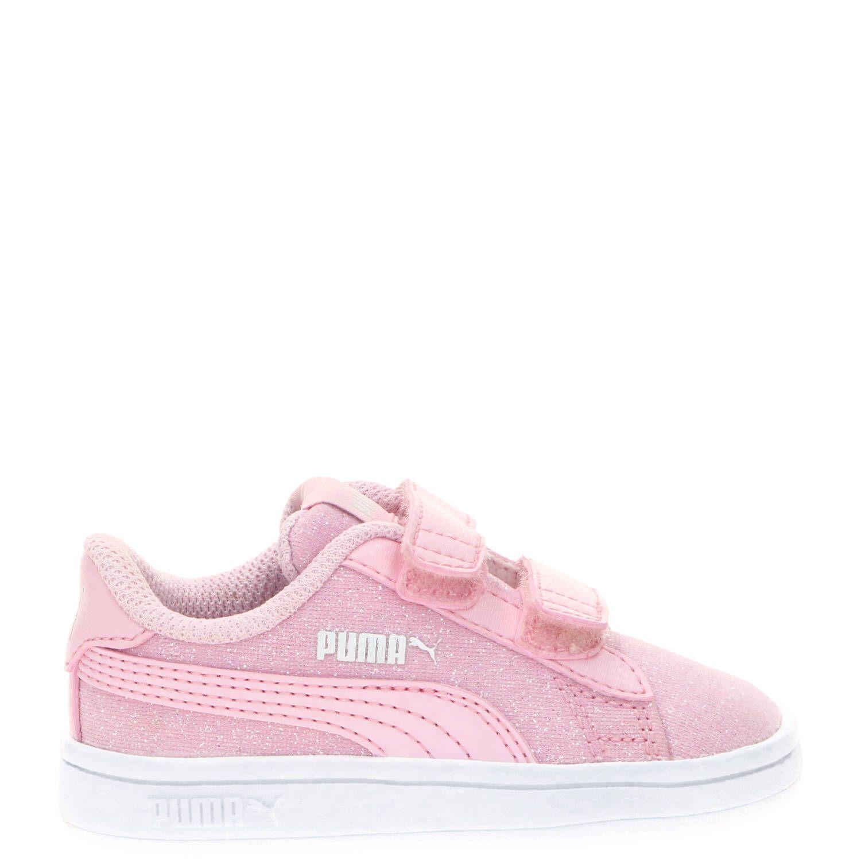 Puma Smash V2 Glitz&Glam sneaker, Sneakers, Meisje, Maat 25, roze