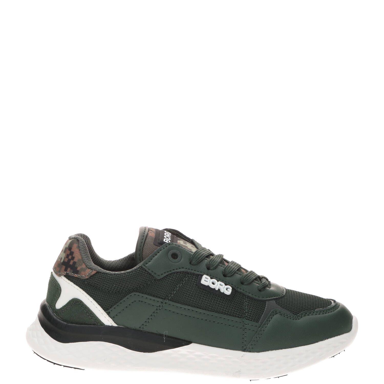 Bjorn Borg R1200 DCA K sneaker, Sneakers, Jongen, Maat 34, groen/Kahki