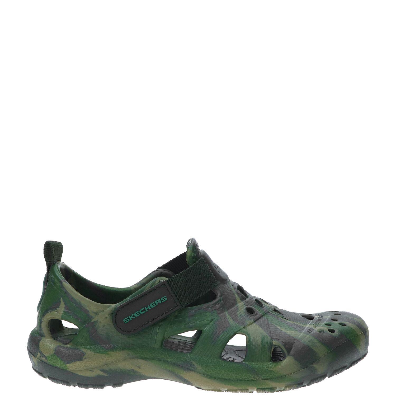 Skechers Koolers Swurlz slipper, Slippers, Jongen, Maat 31, groen