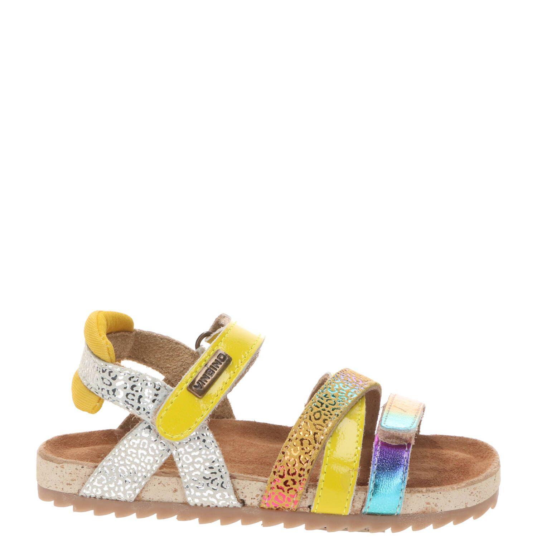 Vingino Vienna sandaal, Sandalen, Meisje, Maat 25, geel/multi