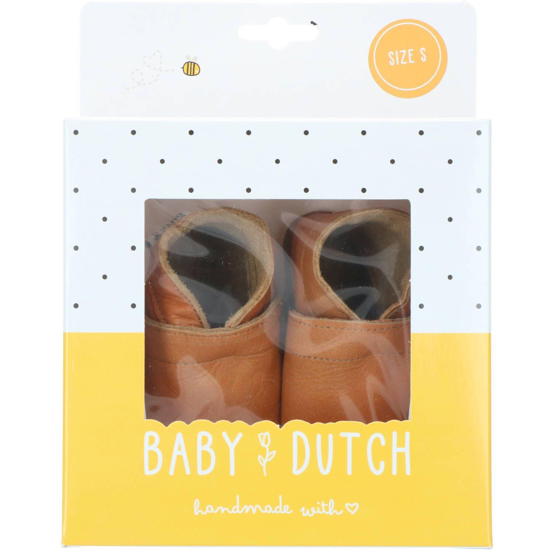 Baby Dutch babyslofje, Lage schoenen, Jongen, Maat 18, bruin/Cognac