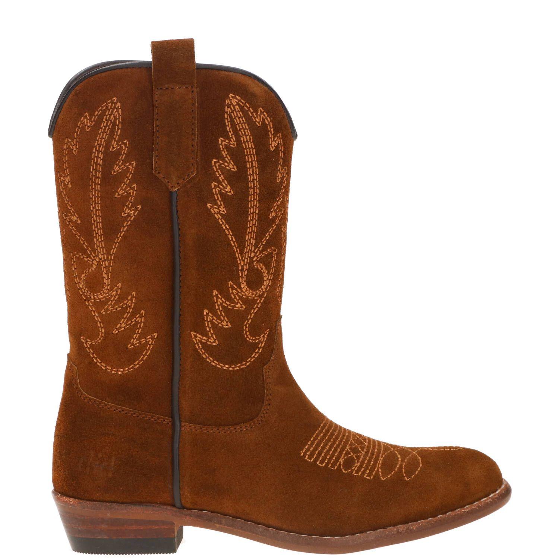 Clic westernlaars, Lage schoenen, Meisje, Maat 37, bruin/Cognac