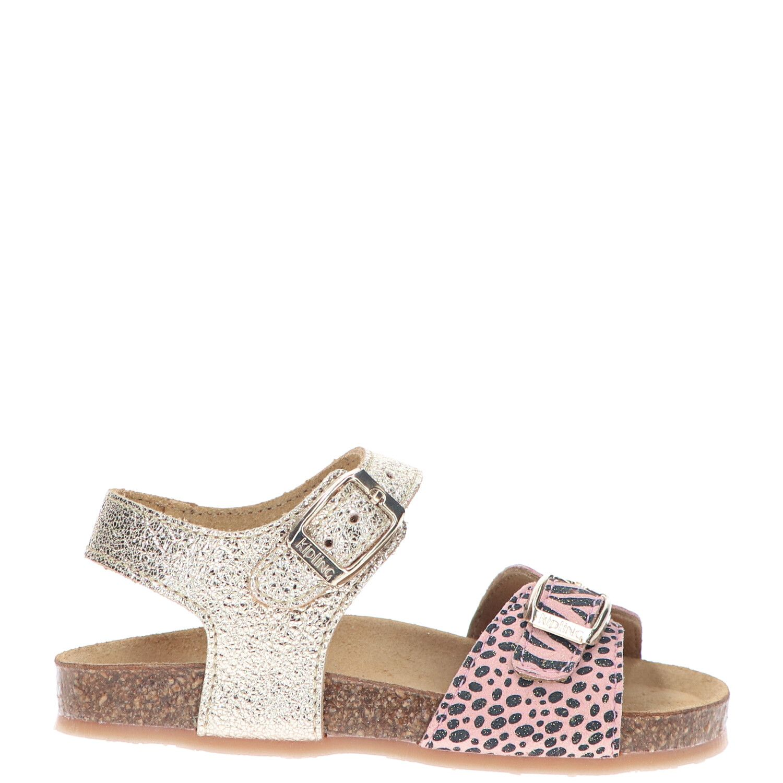 Kipling sandaal, Sandalen, Meisje, Maat 26, goud/roze/multi