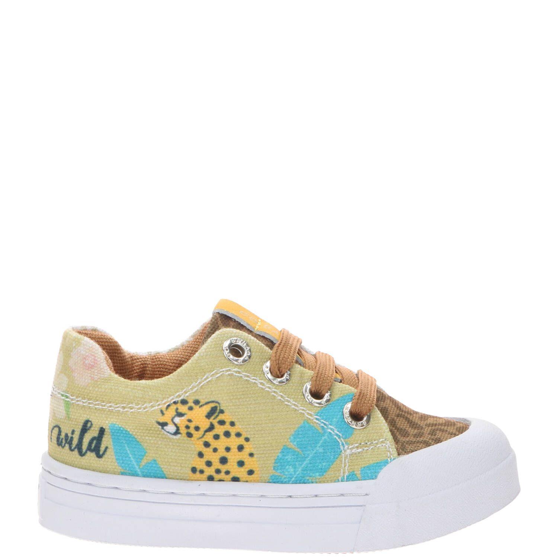 Go Banana's Jungle sneaker, Sneakers, Meisje, Maat 29, beige/multi