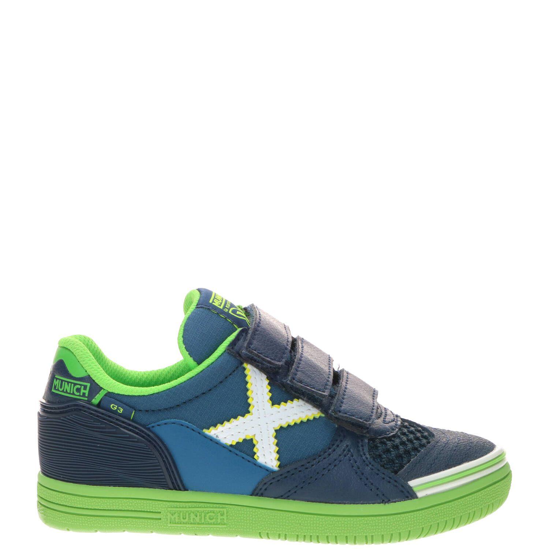 Munich jongensschoen, Lage schoenen, Jongen, Maat 34, blauw