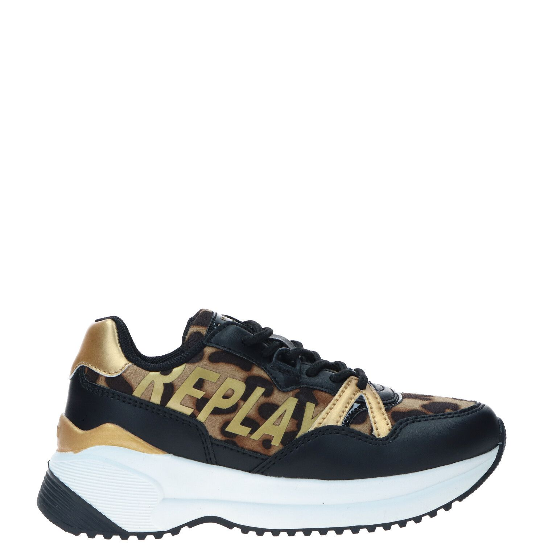 Replay Parker sneaker, Sneakers, Meisje, Maat 35, Overig/goud