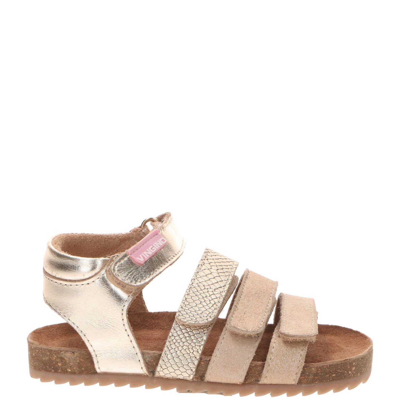 Vingino Giorgia sandaal, Sandalen, Meisje, Maat 31, beige/goud