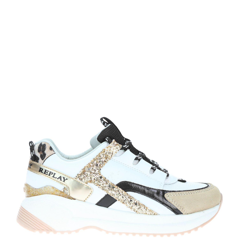 Replay Flys sneaker, Sneakers, Meisje, Maat 32, wit/multi