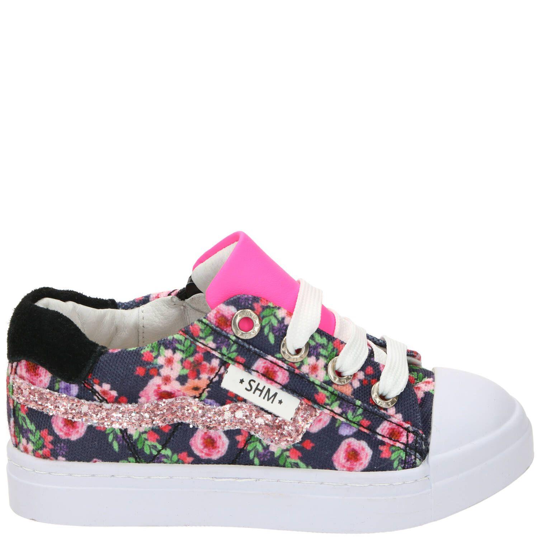 Shoesme veterschoen, Veterschoenen, Meisje, blauw/multi/roze