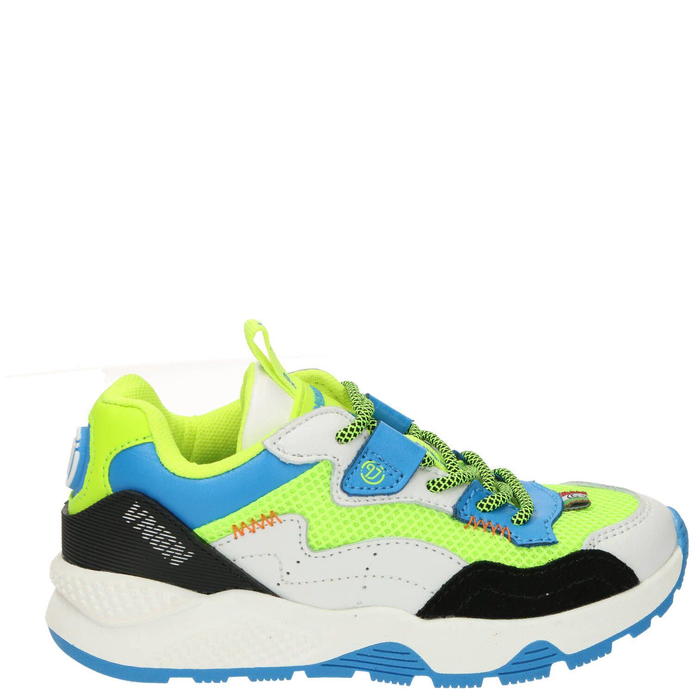 Vingino Rens sneaker, Sneakers, Jongen, Maat 34, wit/groen