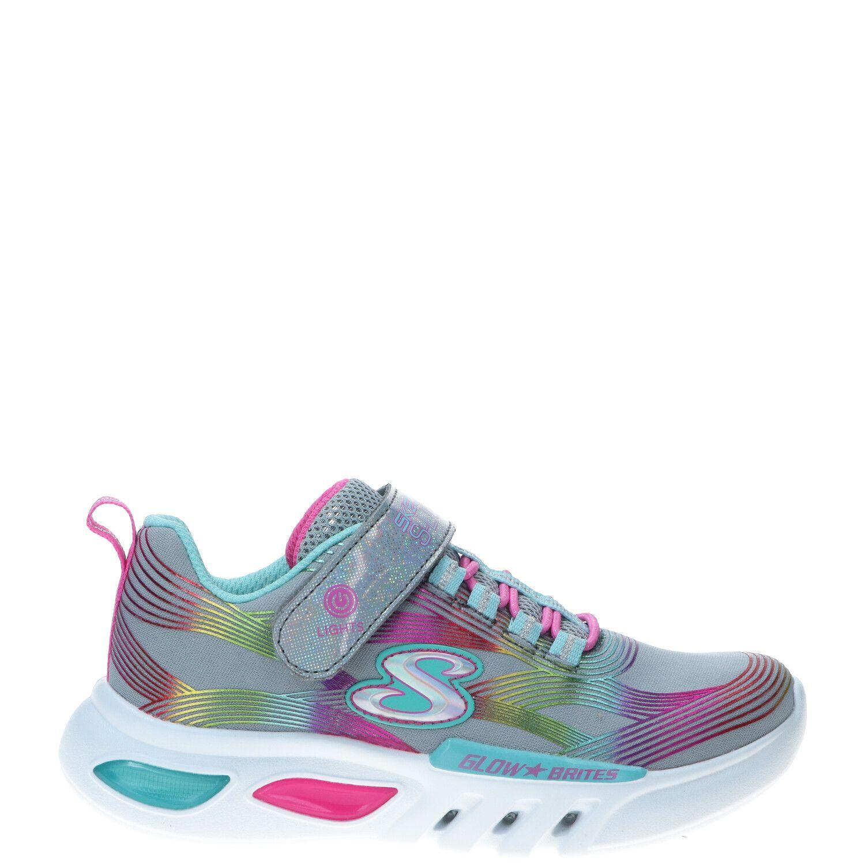 Skechers Glow Brites sneaker, Sneakers, Meisje, Maat 30, grijs/multi