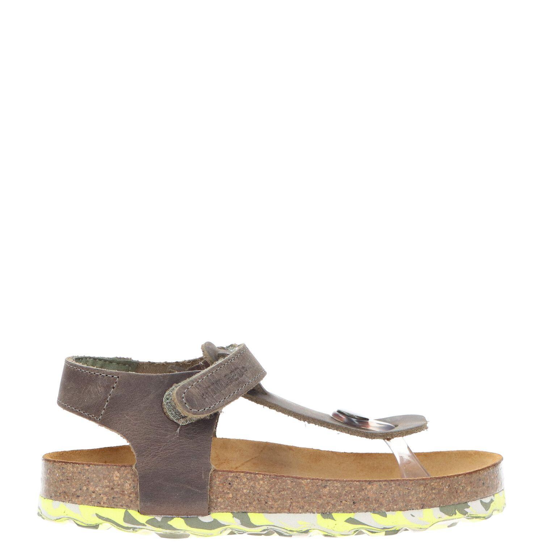 Develab sandaal, Sandalen, Jongen, Maat 32, bruin/groen