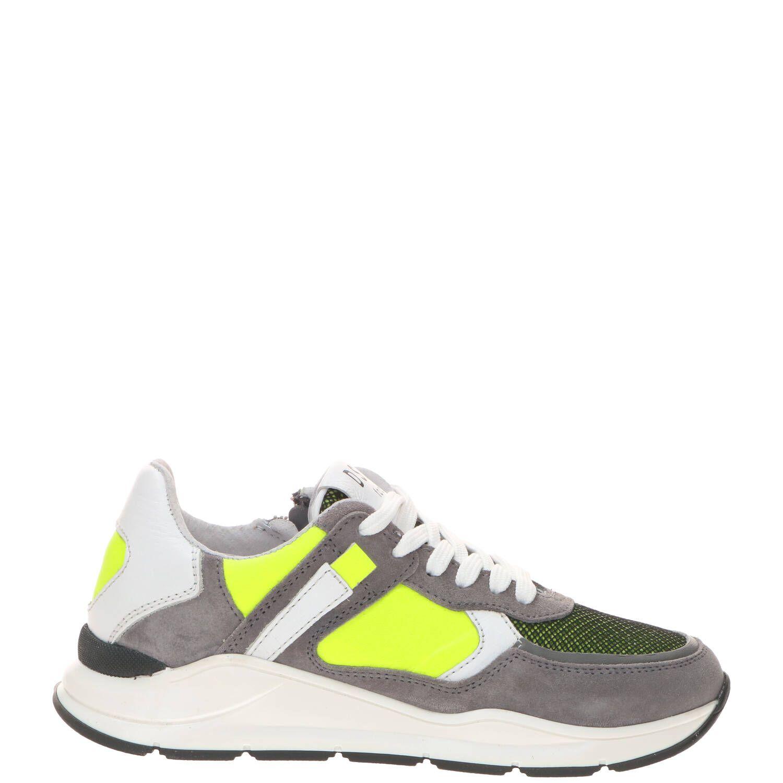 DSTRCT sneaker, Sneakers, Jongen, Maat 31, grijs/geel