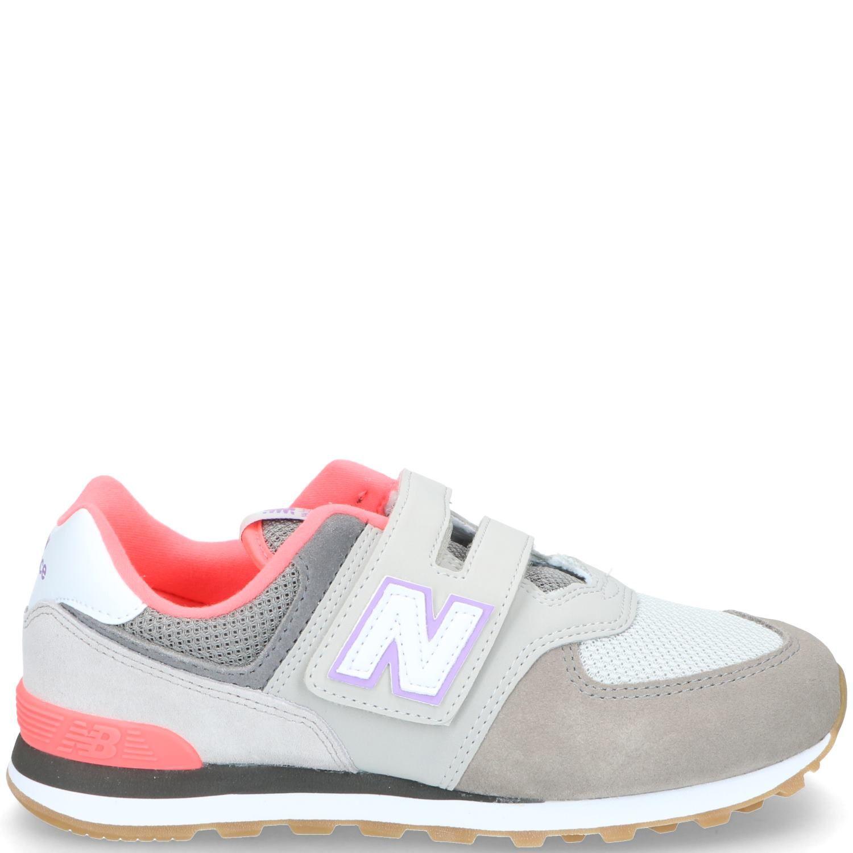 New Balance klittenbandschoen, Lage schoenen, Meisje, Maat 34.5, grijs