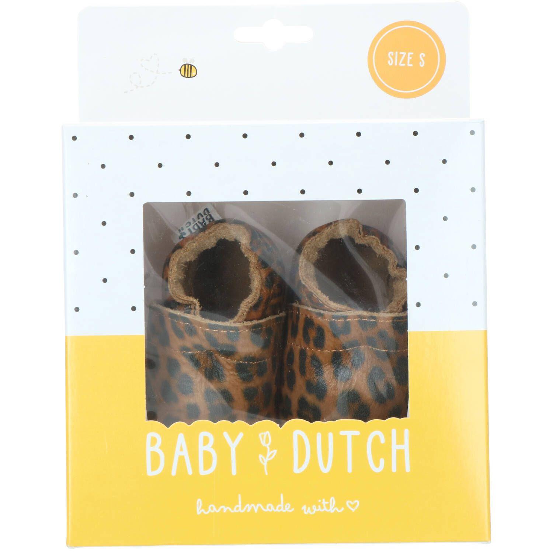 Baby Dutch babyslofje, Lage schoenen, Jongen, Maat 17, bruin/Cognac