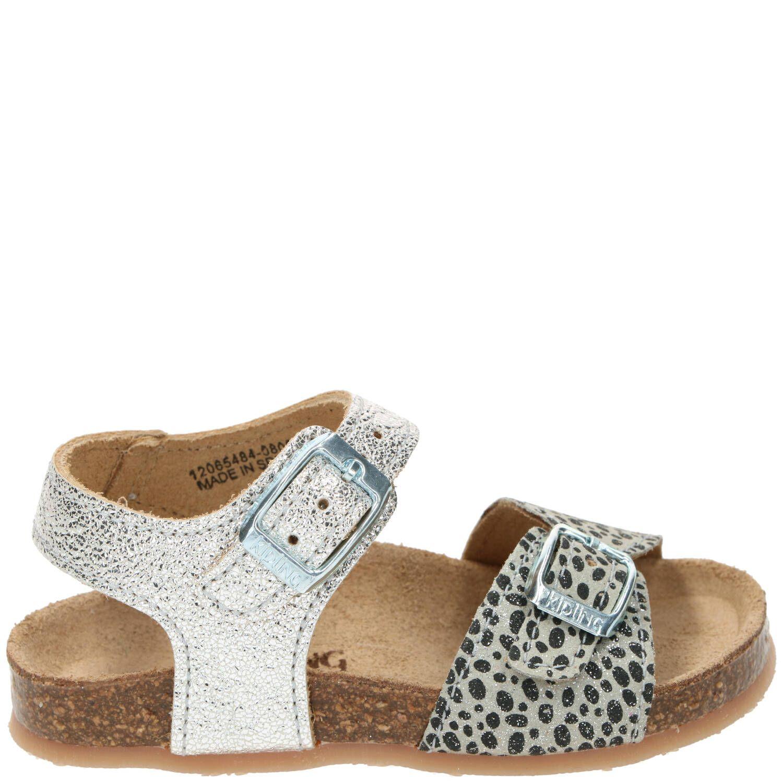 Kipling sandaal, Sandalen, Meisje, groen/zilver