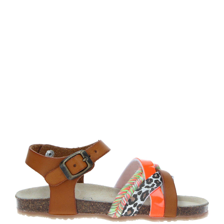 IK-KE sandaal, Sandalen, Meisje, Maat 34, Cognac/multi